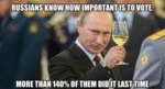 Russians Know How Important Is To Vote. More...