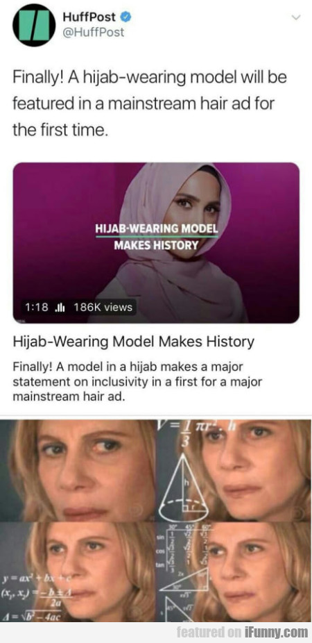 Finally! A Hijab-wearing Model Will Be Featured...