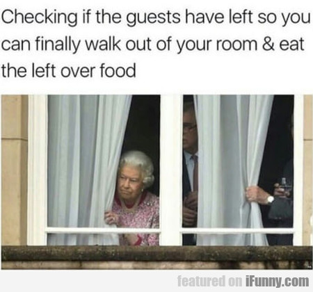 Checking If The Guests Have Left So You Can...