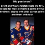Did You Know? - Brent And Wayne Gretzky Hold...