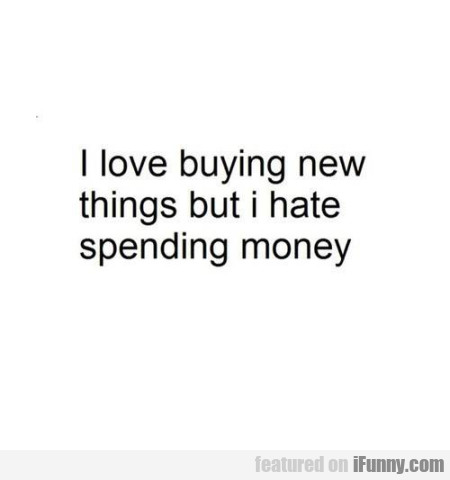 I Love Buying New Things But I Hate Spending...