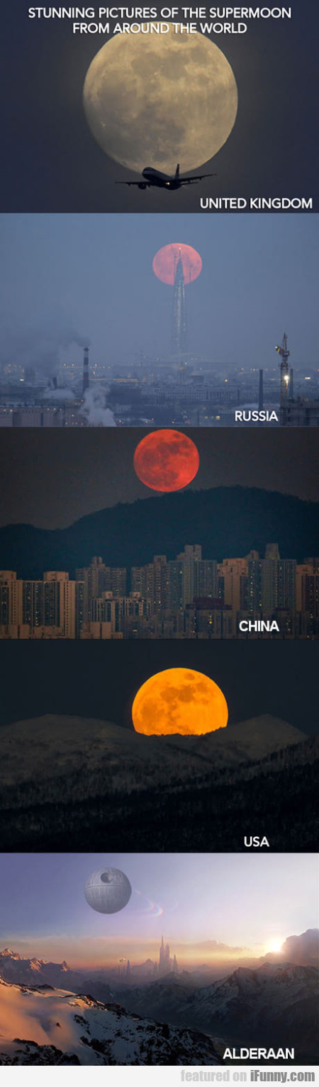Stunning Pictures Of The Supermoon From Around...