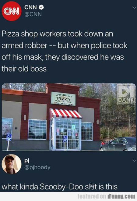 Pizza Shop Workers Took Down An Armed Robber...