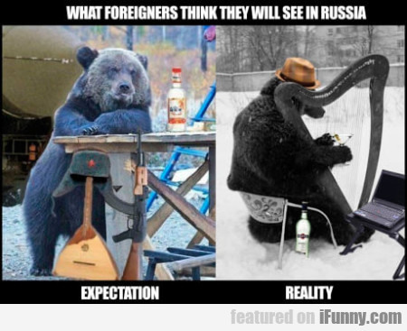 What Foreigners Think They Will See In Russia...