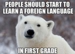 People Should Start To Learn A Foreign Language...
