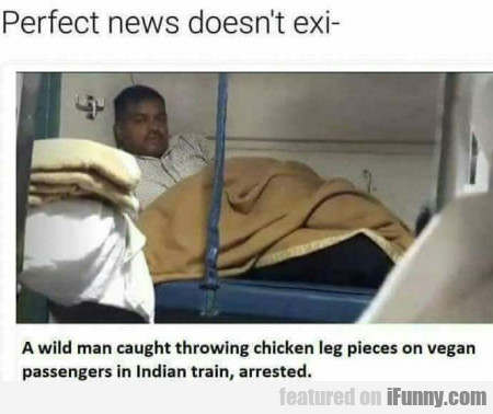 Perfect News Doesn't Exi- A Wild Man Caught...