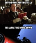 David Bowie Playing Tesla - Tesla Playing David...