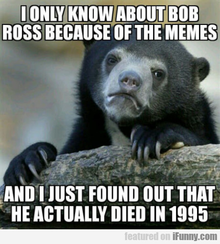I only know about Bob Ross because of the memes...