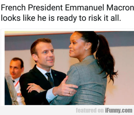 French President Emmanuel Macron Looks Like He...