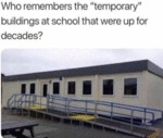 Who Remembers The Temporary Building At School...