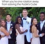 When You're One Rotation Away From Solving The...