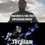 Black Panther Is The First Black Superhero Movie..