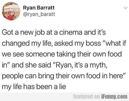 Got A New Job At A Cinema And It's Changed...