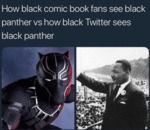 How Black Comic Book Fans See Black Panther...