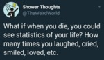 What If When You Die You Could See Statistics...