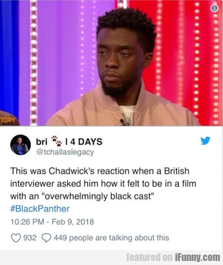 This was Chadwick's reaction when a British...