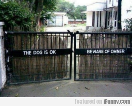 The Dog Is Ok - Beware Of The Owner
