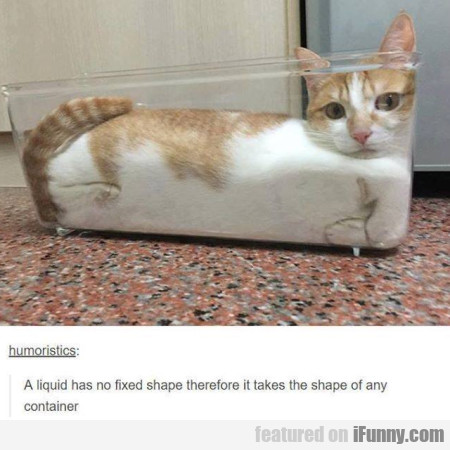 A Liquid Has No Fixed Shape Therefore It Takes...