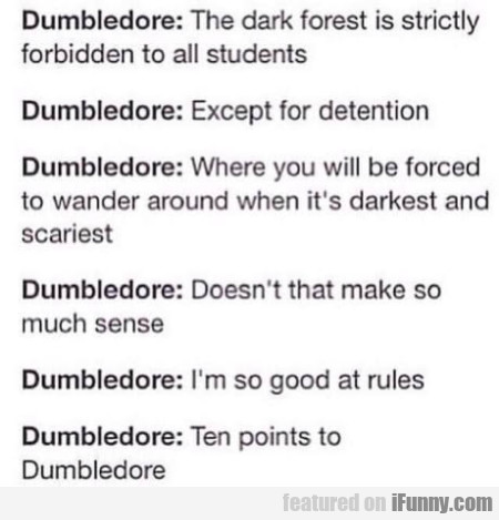 Dumbledore - The Dark Forest Is Strictly Forbidden