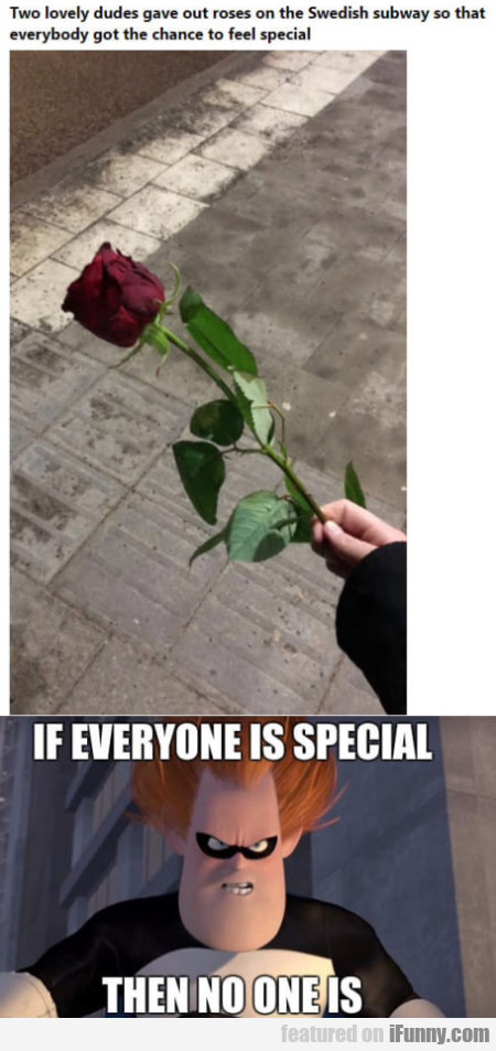 Two lovely dudes gave out roses on the...