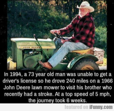 In 1994, A 73 Year Old Man Was Unable To...