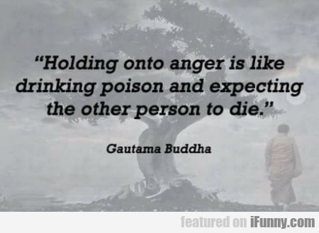 Holding Onto Anger Is Like Drinking Poison...