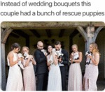Instead Of Wedding Bouquets This Couple Had...