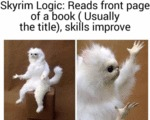 Skyrim Logic - Reads Front Page Of A Book...