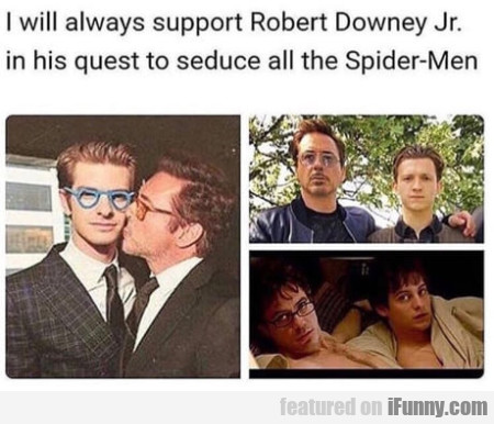 I Will Always Support Robert Downey Jr. In His...