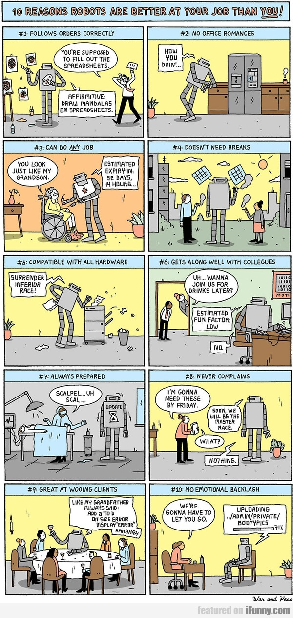 10 reasons robots are better at your job than you!