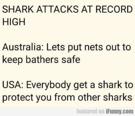 Shark Attacks At Record High Australia Lets