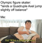 Olympic Figure Skater - Lands A Quadruple Axel...