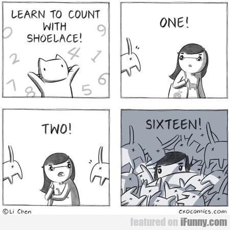Learn To Count With Shoelace! One! Two!...
