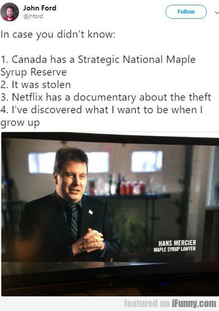 In Case You Didn't Know - Canada Has A Strategic..