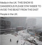 Media In The Uk - This Snow Is Dangerous Please...