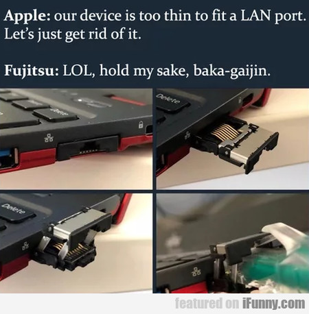 Apple: Our Device Is Too Thin To Fit A Lan Port...