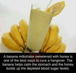 A Banana Milkshake Sweetened With Honey Is...