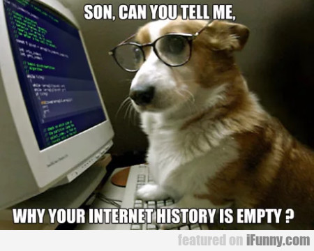 Son, can you tell me why your internet history...