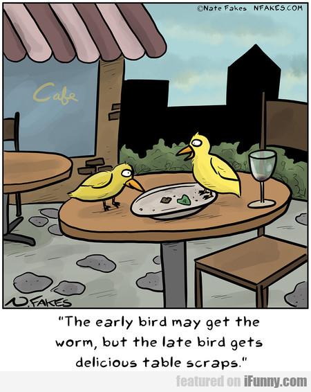 The Early Bird May Get The Worm, But The Late Bird