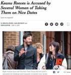 Keanu Reeves Is Accused By Several Women...
