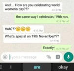 And..how Are You Celebrating World Women's...