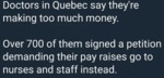 Doctors In Quebec Say They're Making Too Much...