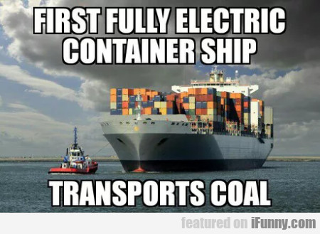 First Fully Electric Container Ship Transports...