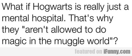What if Hogwarts is really just a mental...