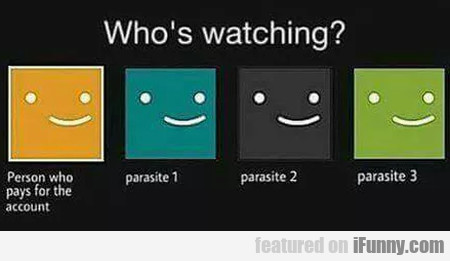 Who's Watching? - Person Who Pays For The...