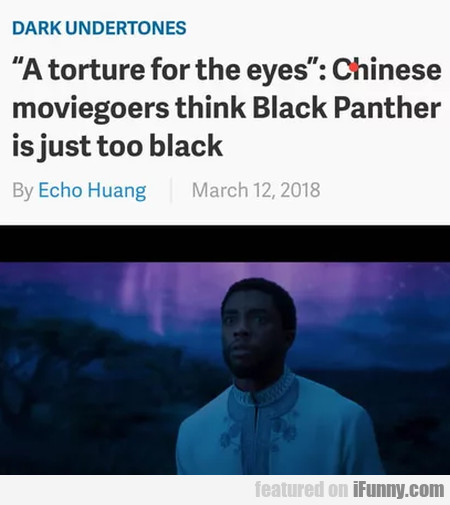 A Torture For The Eyes - Chinese Moviegoers...
