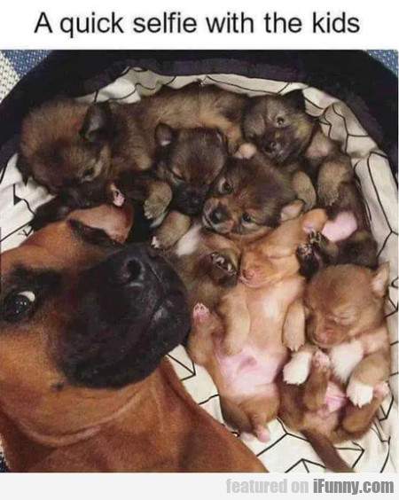 A Quick Selfie With The Kids