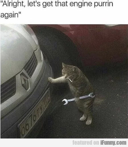 Alright, Let's Get That Engine Purrin Again...
