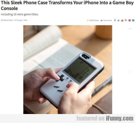 This sleek phone case transforms your iPhone...