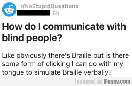 How Do I Communicate With Blind People?